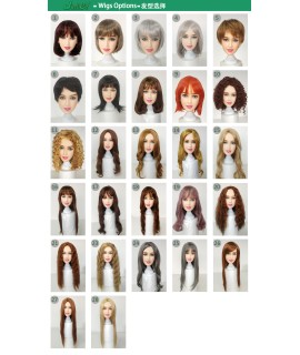 Wig for sex dolls, difference Style color hair for love dolls, TPE sex dolls,real silicone sex dolls,fit for 135cm to 170cm body|Sex Dolls|   - 1SexFun