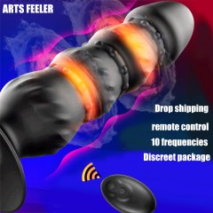 10 Speed Anal Vibrator Prostate Massager USB Charging Remote Control Vibrating Anal Plug Male Masturbation Sex Toys For Men|Anal Sex Toys|   - 1SexFun